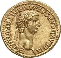Gold Claudius coin
