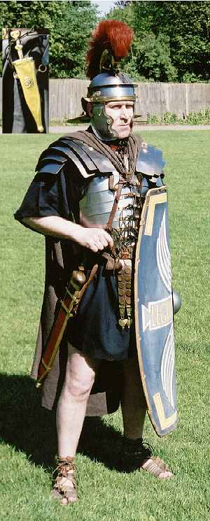 Roman soldier and his equipment