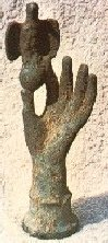 Bronze Hand and eagle